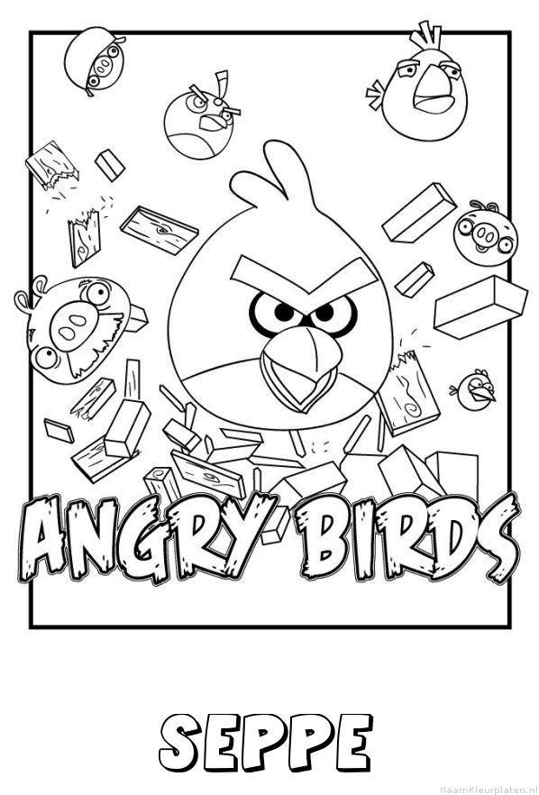 Seppe angry birds kleurplaat