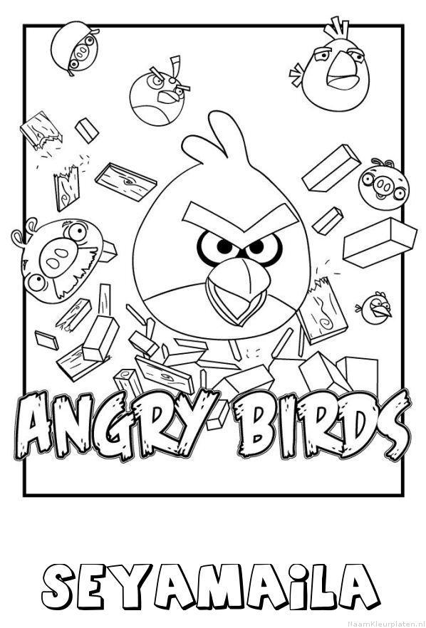 Seyamaila angry birds kleurplaat