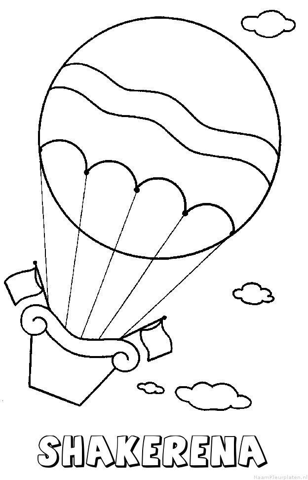 Shakerena luchtballon kleurplaat