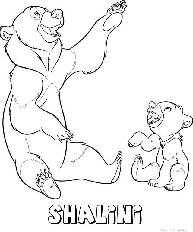 Shalini brother bear kleurplaat