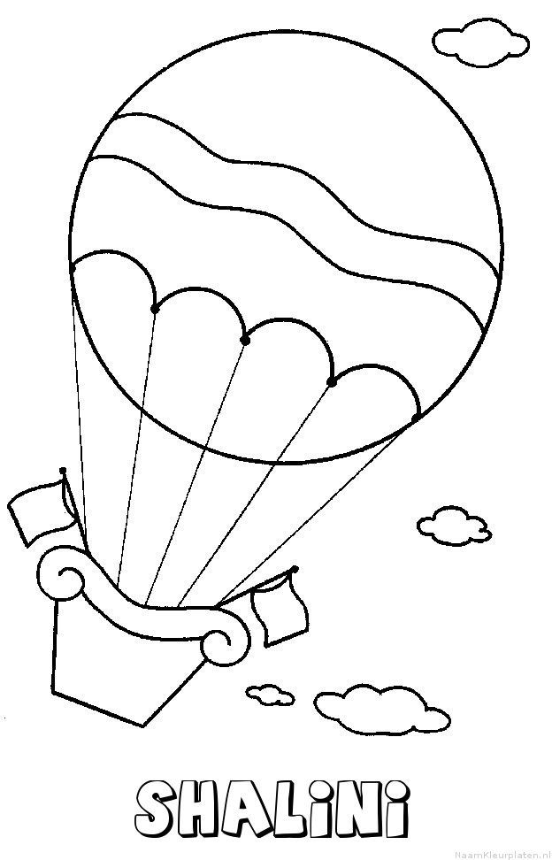 Shalini luchtballon kleurplaat
