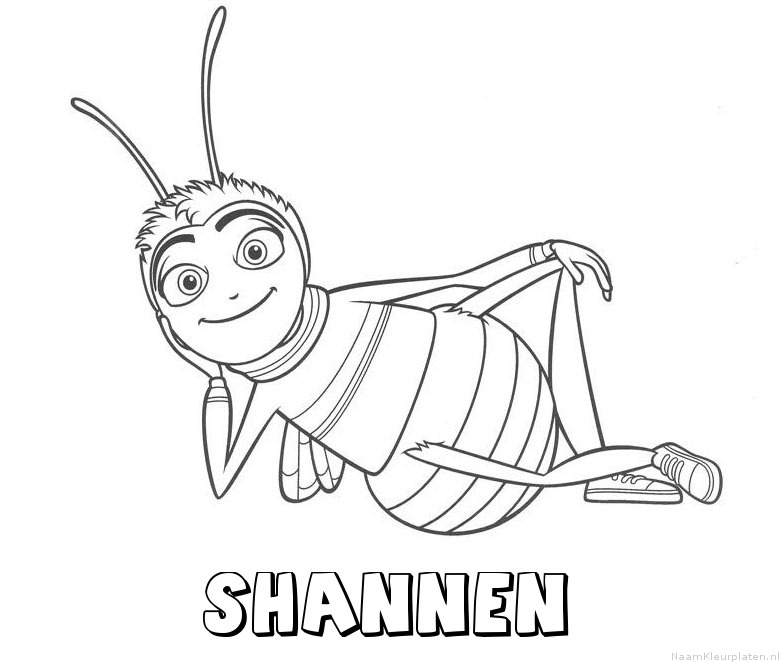 Shannen bee movie kleurplaat