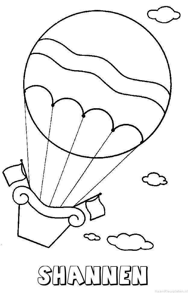 Shannen luchtballon kleurplaat