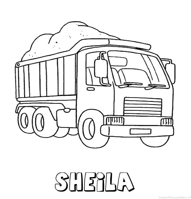 Sheila vrachtwagen kleurplaat