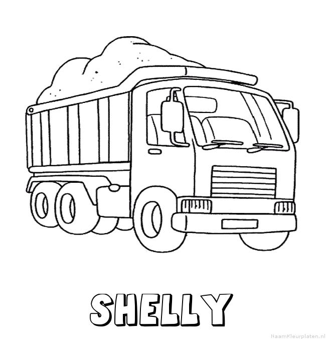 Shelly vrachtwagen kleurplaat