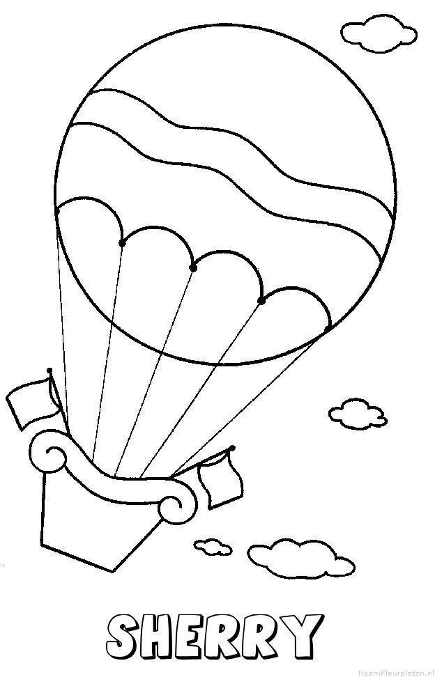 Sherry luchtballon kleurplaat