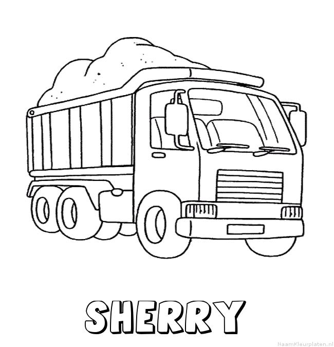 Sherry vrachtwagen kleurplaat