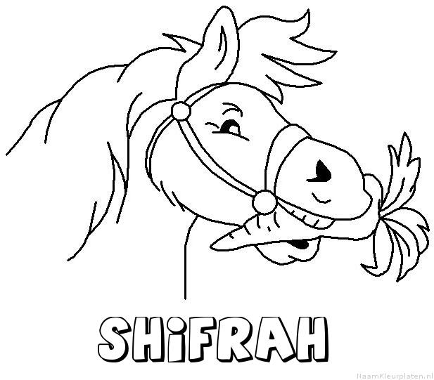 Shifrah paard van sinterklaas kleurplaat