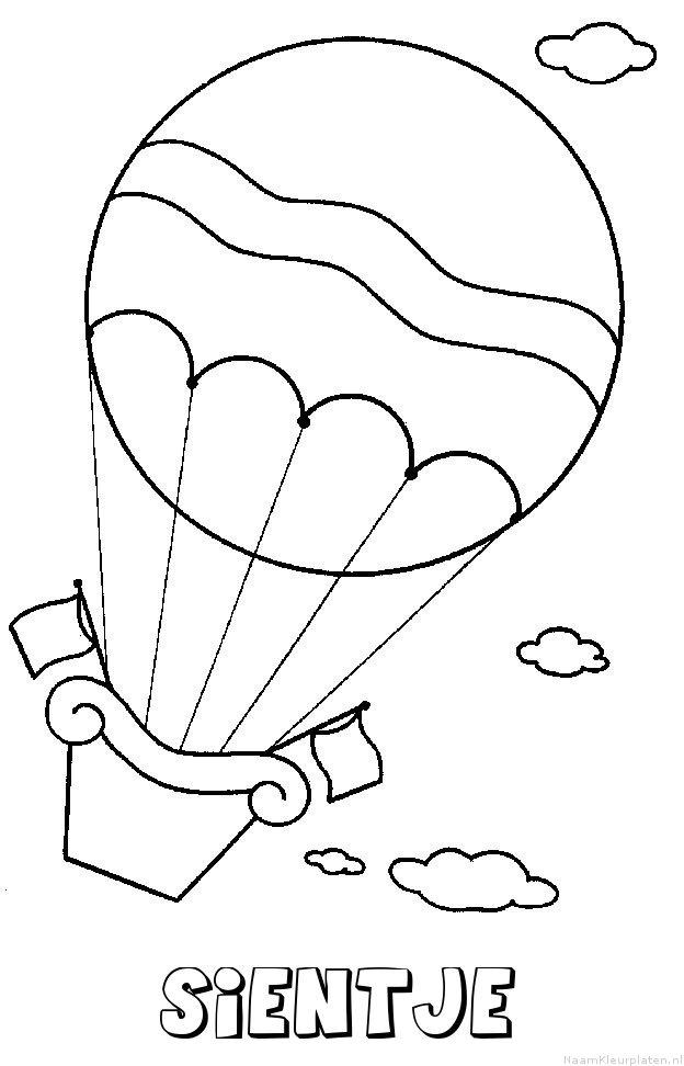 Sientje luchtballon kleurplaat