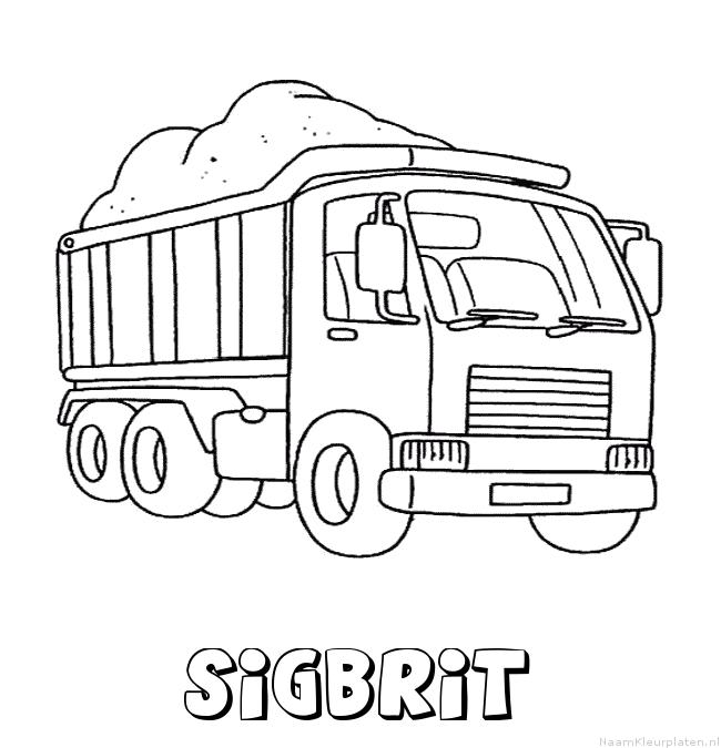 Sigbrit vrachtwagen kleurplaat