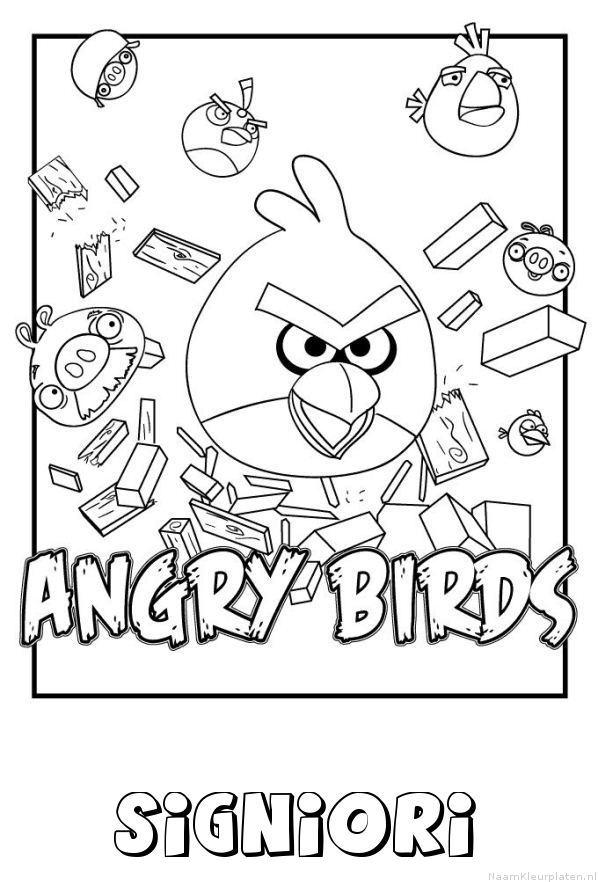 Signiori angry birds kleurplaat
