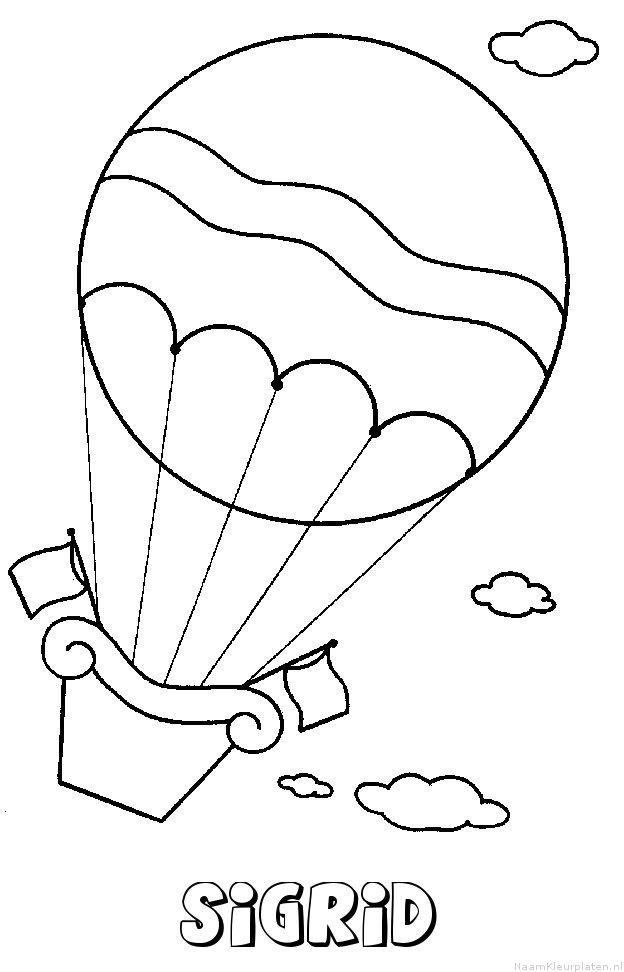 Sigrid luchtballon kleurplaat