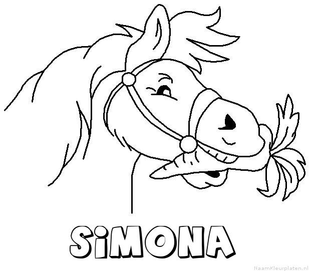 Simona paard van sinterklaas kleurplaat