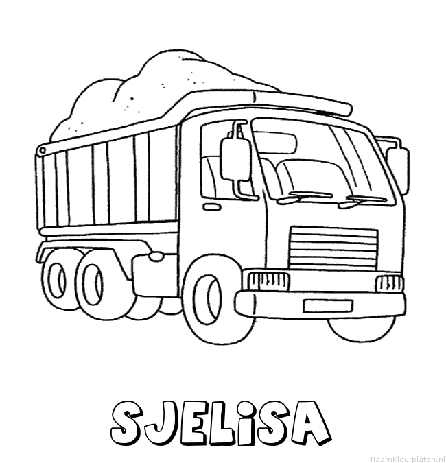 Sjelisa vrachtwagen kleurplaat