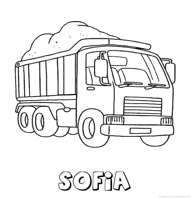 Sofia vrachtwagen kleurplaat