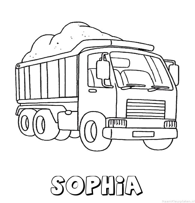 Sophia vrachtwagen kleurplaat