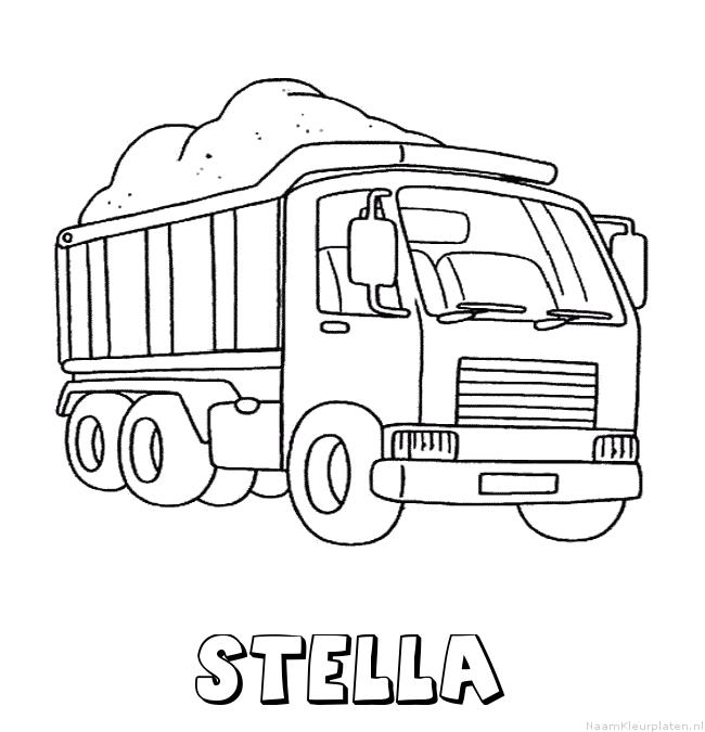 Stella vrachtwagen kleurplaat