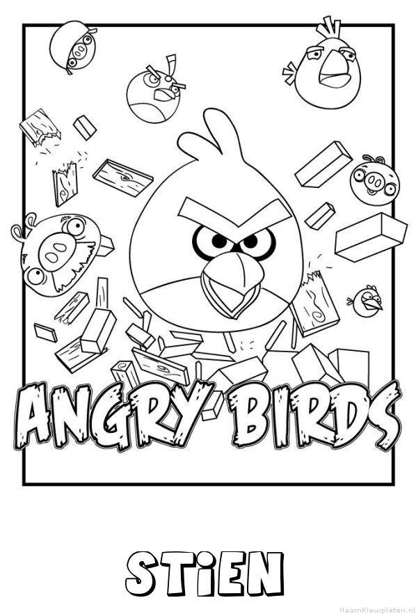 Stien angry birds kleurplaat