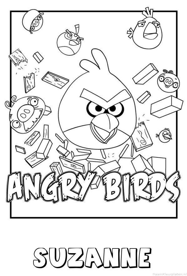 Suzanne angry birds kleurplaat