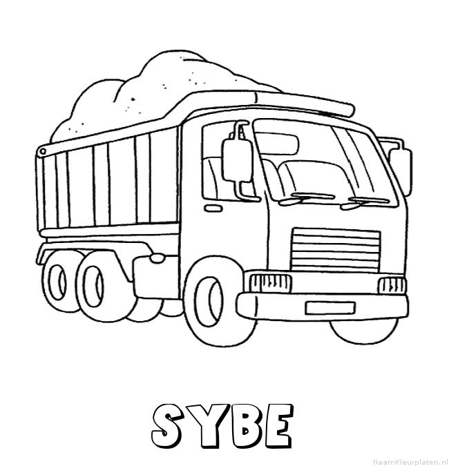 Sybe vrachtwagen kleurplaat