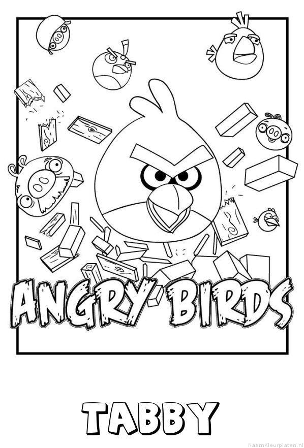 Tabby angry birds kleurplaat