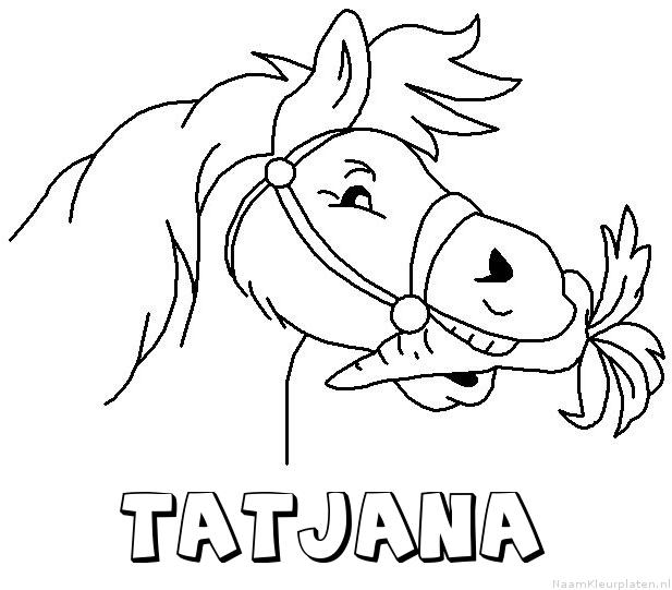 Tatjana paard van sinterklaas kleurplaat