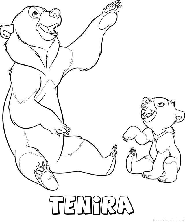 Tenira brother bear kleurplaat