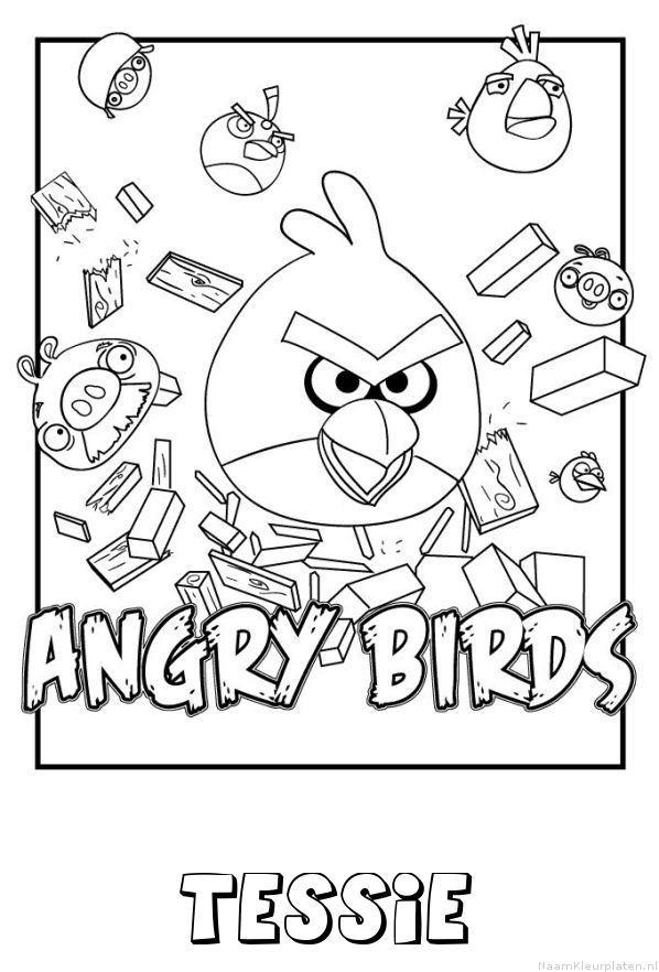 Tessie angry birds kleurplaat