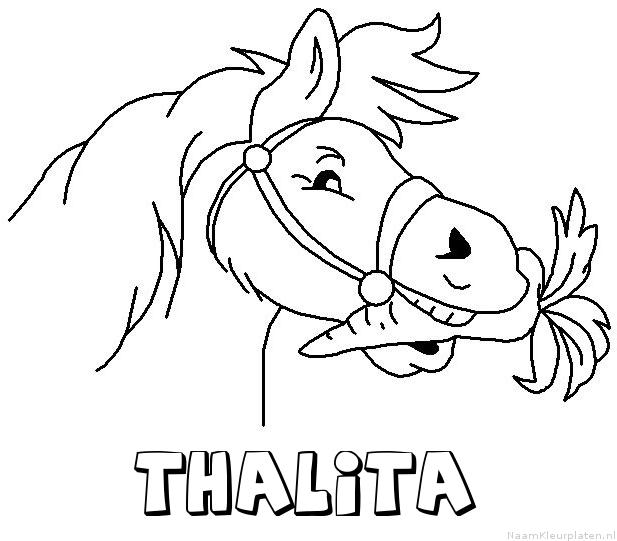 Thalita paard van sinterklaas kleurplaat