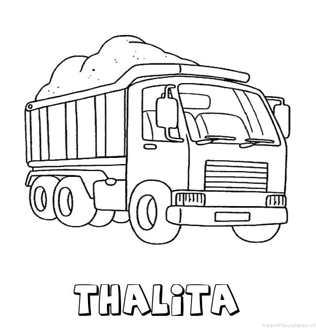 Thalita vrachtwagen kleurplaat