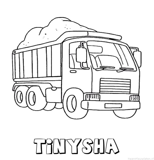 Tinysha vrachtwagen kleurplaat