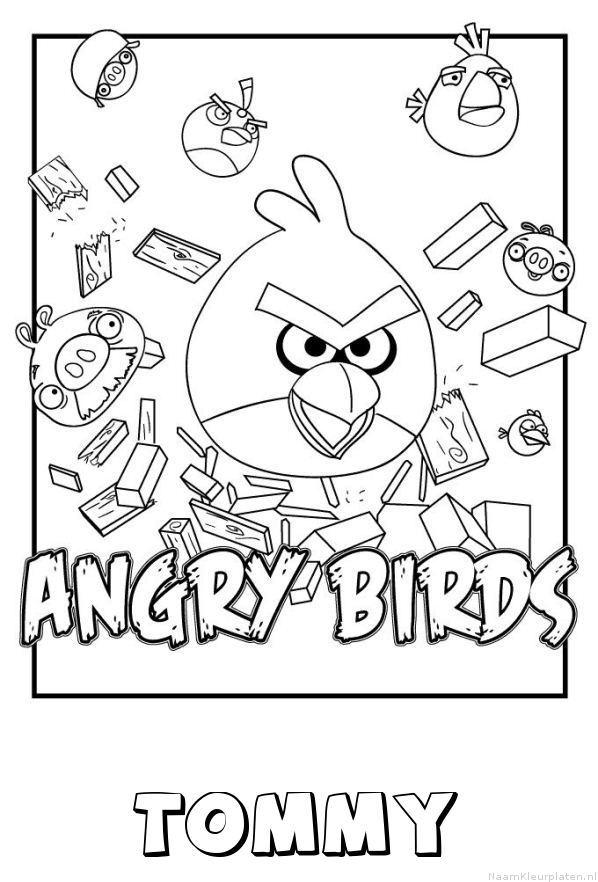 Tommy angry birds kleurplaat