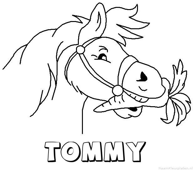 Tommy paard van sinterklaas kleurplaat