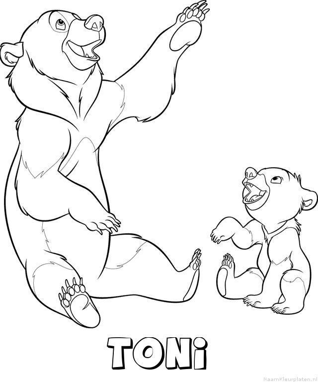 Toni brother bear kleurplaat