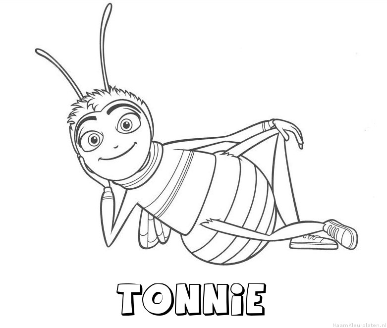 Tonnie bee movie kleurplaat