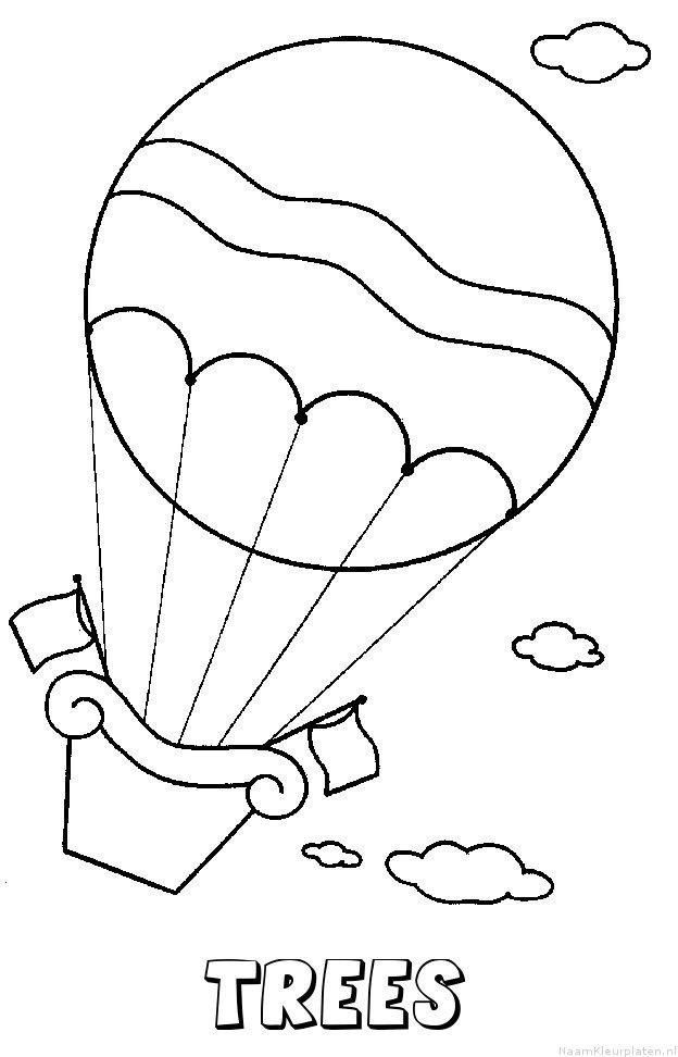 Trees luchtballon kleurplaat