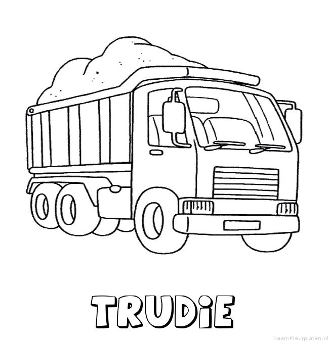 Trudie vrachtwagen kleurplaat