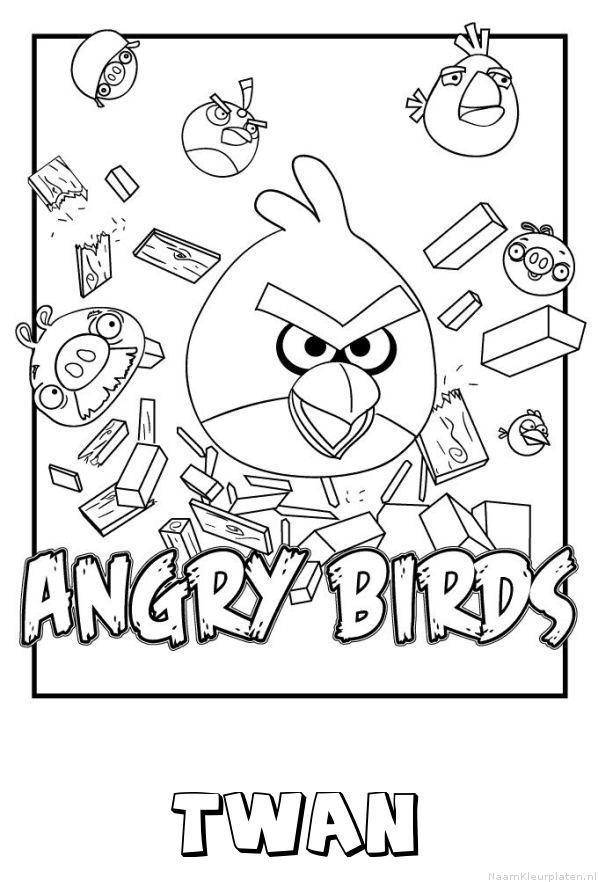 Twan angry birds kleurplaat