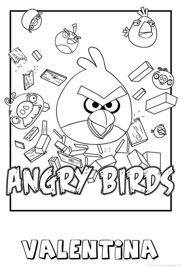 Valentina angry birds kleurplaat
