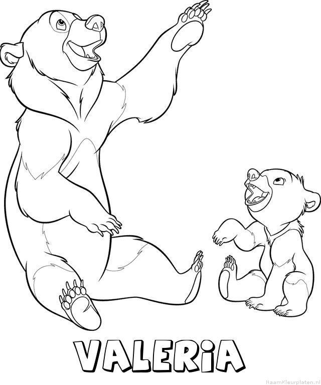 Valeria brother bear kleurplaat