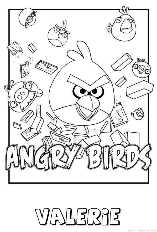 Valerie angry birds kleurplaat