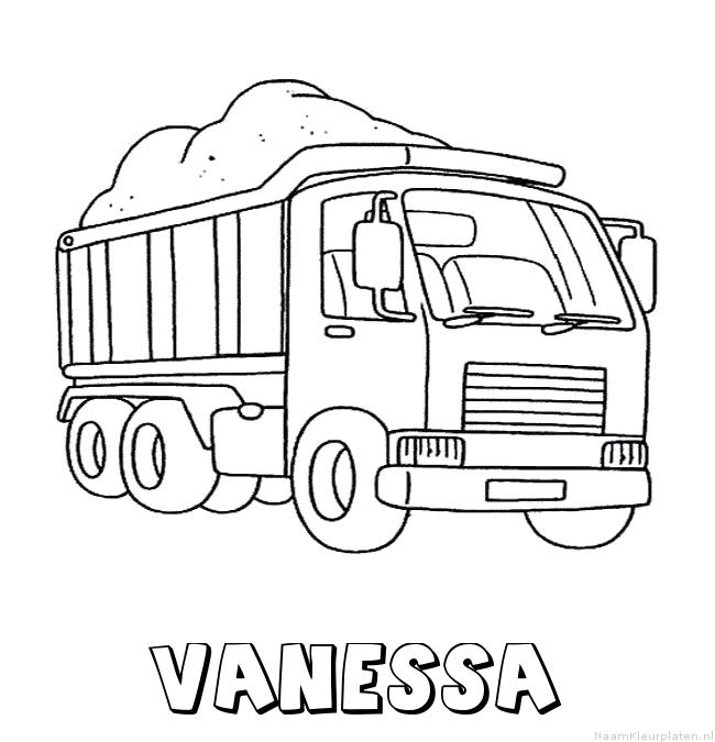 Vanessa vrachtwagen kleurplaat