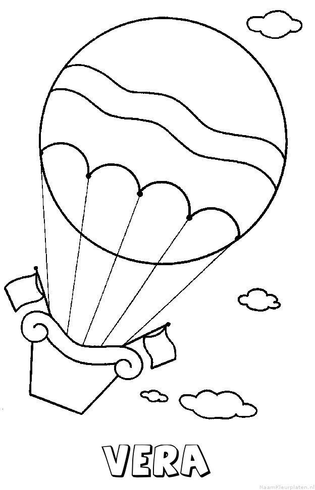 Vera luchtballon kleurplaat