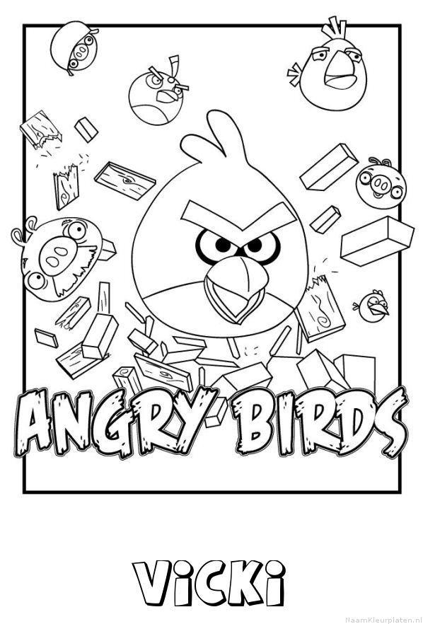 Vicki angry birds kleurplaat