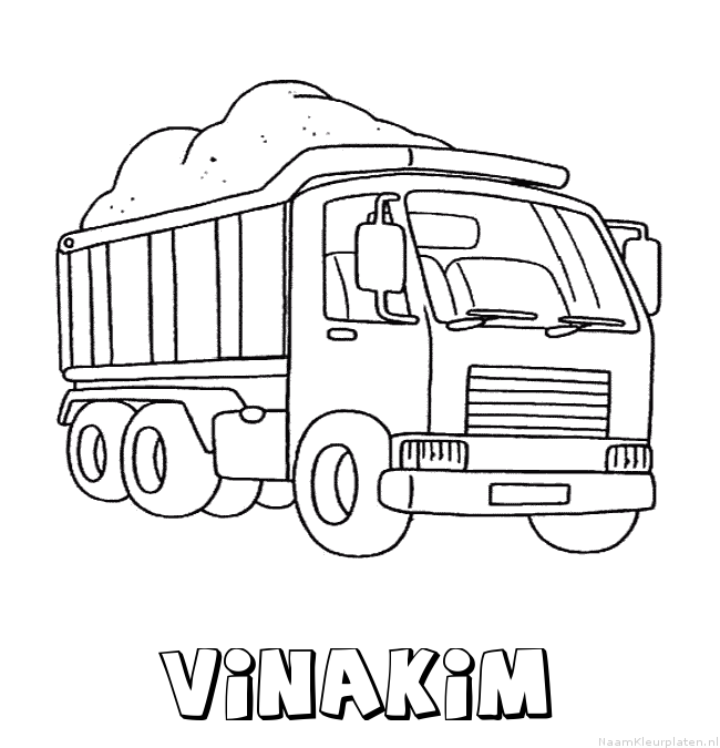 Vinakim vrachtwagen kleurplaat