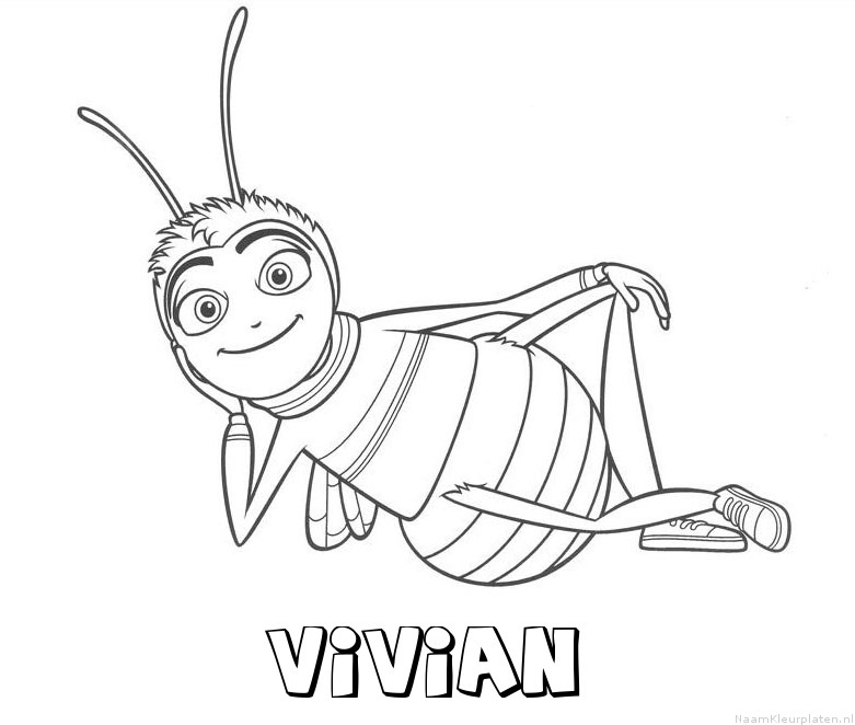 Vivian bee movie kleurplaat