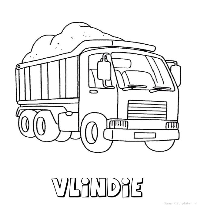 Vlindie vrachtwagen kleurplaat
