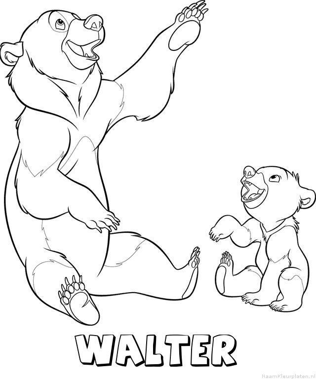 Walter brother bear kleurplaat