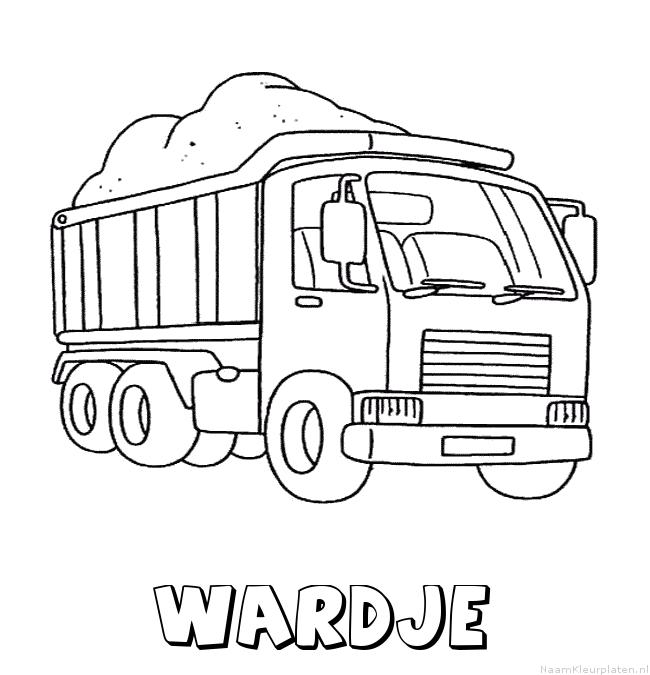 Wardje vrachtwagen kleurplaat