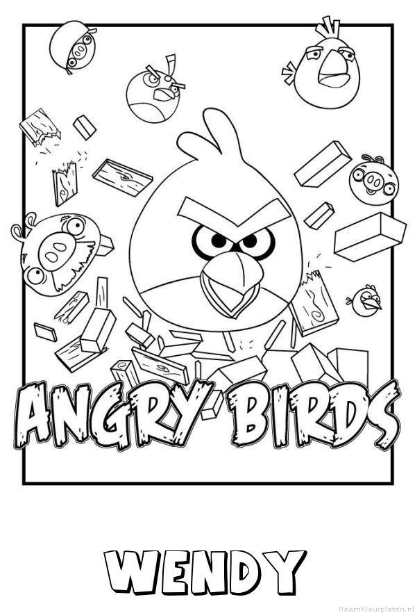Wendy angry birds kleurplaat
